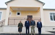 """President views renovated house earlier destroyed by Armenian missile attack <span class=""""color_red"""">[PHOTO]</span>"""