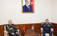 """Defence chief receives Turkey's new military attache <span class=""""color_red"""">[PHOTO]</span>"""