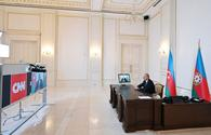 """Chronicles of Victory: CNN International TV channel's """"The Connect World"""" program broadcasts interview with President Ilham Aliyev on October 9, 2020 <span class=""""color_red"""">[PHOTO/VIDEO]</span>"""
