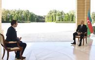 """Chronicles of Victory: President Ilham Aliyev interviewed by Turkish Haber Global TV channel on October 12, 2020 <span class=""""color_red"""">[PHOTO/VIDEO]</span>"""