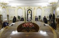 Meeting of religious leaders of Azerbaijan, Russia and Armenia taking place in Moscow