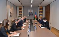 """Azerbaijani FM discusses mine threat in liberated territories with French CNEMA delegates <span class=""""color_red"""">[PHOTO]</span>"""