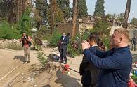 """Ukrainian MPs visit Ganja where cilivians died as result of missile attacks by Armenia <span class=""""color_red"""">[PHOTO]</span>"""