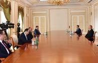 President receives Turkish labor and social security minister