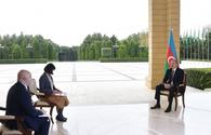 """Chronicles of Victory: President Ilham Aliyev interviewed by Japan's Nikkei newspaper on October 21, 2020 <span class=""""color_red"""">[PHOTO]</span>"""