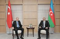 """Azerbaijani, Turkish presidents held one-on-one meeting <span class=""""color_red"""">[PHOTO]</span>"""