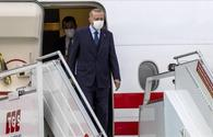 Turkish president leaves for one-day visit to Azerbaijan