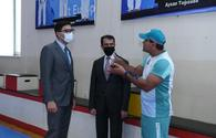 """Youth and sports minister visits Taekwondo Federation <span class=""""color_red"""">[PHOTO]</span>"""