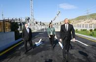 """President, First VP visit liberated Gubadli <span class=""""color_red"""">[PHOTO]</span>"""