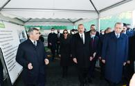 """Azerbaijani, Turkish presidents view works done under """"smart village"""" project in Zangilan <span class=""""color_red"""">[PHOTO]</span>"""